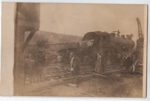 RPPC, Train Wreck near Friendship NY