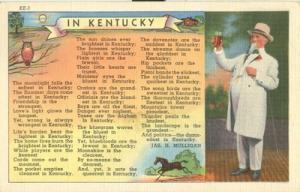 In Kentucky, unused linen Postcard