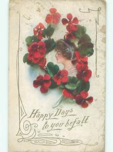 Divided-Back PRETTY WOMAN Risque Interest Postcard AA8297
