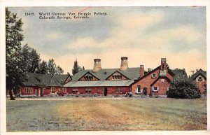 Glass Related Post Card World Famous Van Briggle Pottery Colorado Springs, Co...