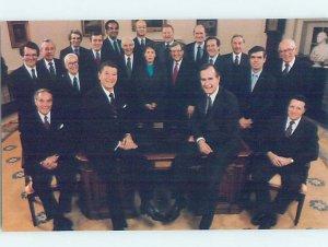 1980's PRESIDENT RONALD REAGAN & GEORGE BUSH & TEAM Washington DC AF1903@