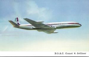 BOAC Comet 4 Jetliner De Havilland Aircraft Co. Ad Advert Unused Postcard D66