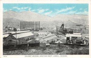 H10/  Lowell Arizona Postcard 1927 Calumet Junction Shaft Mountains