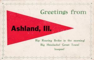Greetings from ASHLAND, Illinois, 1900-10s