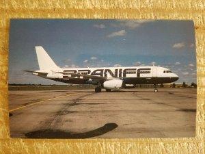 BRANIFF AIRBUS A320-231 N902BN Kansas City Hub (901-905)Vtg Airplane Postcard*P9