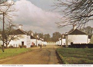 Houghton Model Village Man in Raincoat Phone Box Norfolk Postcard