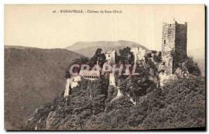 Old Postcard Ribeauville Chateau of Saint Ulrich