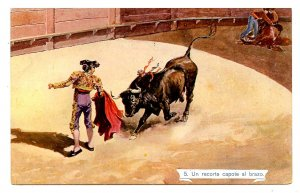 Bullfighting - A Cape Cutout to the Arm