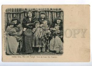 236328 ARGENTINA Indias Ona Rio del Fuego Vintage postcard