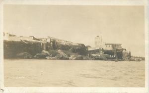Lighthouse @ Alcatraz CA c1913 Allen-Berne-Allen of Brooklyn NY RPPC c1918