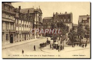 Old Postcard Nancy Place Saint John and the Protestant Church