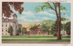 Illinois Elmhurst Campus Scene Elmhurst College Curteich