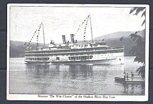 Hudson River Day Line Steamer DeWitt Clinton Postcard
