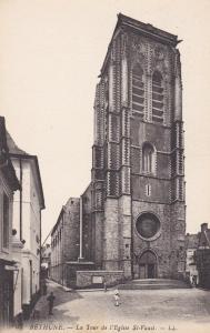 BETHUNE, France, 1900-10s; La Tour de l'Eglise St. Vaast