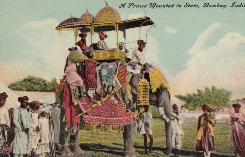A Prince Mounted (Elephant) in State , BOMBAY , India , 00-10s