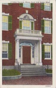A Salem Doorway Shreve Porch 1818 Salem Massachusetts 1947
