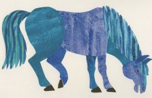Blue Horse Brown Bear Brown Bear What Do You See Eric Carle Book Postcard