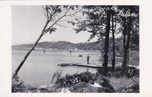 RP: LAKE HELEN, Ontario, Canada, PU-1953; Man on Dock