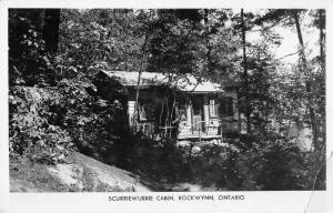 Rockwynn Ontario Canada Scurriewurrie Cabin Real Photo Antique Postcard J80541