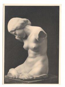 Josef Riadl Vienna Madchentorso Nude Girl Sculpture Karl Kuhne 4X6 RPPC Postcard