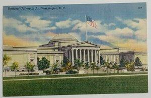 VTG Old Litho Linen Era Postcard National Gallery of Art Washington, D.C. Print