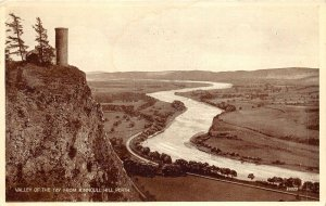 br109511 valley of the tay from kinnoull hil perth scotland real photo uk