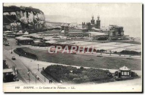Old Postcard Dieppe and Casino Cliffs