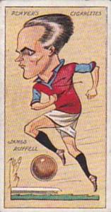 Player Vintage Cigarette Card Football Caricatures By Mac 1927 No 29 James Ru...