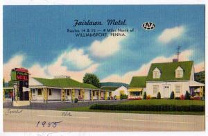 Fairlawn Motel, Williamsport PA