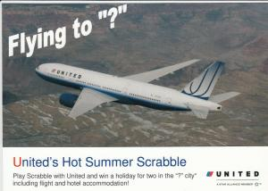 UNITED Jet Airplane  , 80-90s : Hot Summer Scrabble