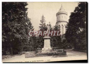 Old Postcard Colmar Statue and Garden Bartholdy