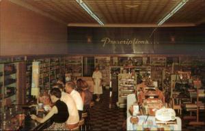 Elba GA Whitman Drug Co Lunch Counter Classic 1950s Vintage Postcard