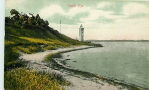 c1907 Chromograph Postcard; Stribfyr Light House Middelfart Denmark