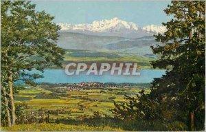 Old Postcard Mont Blanc