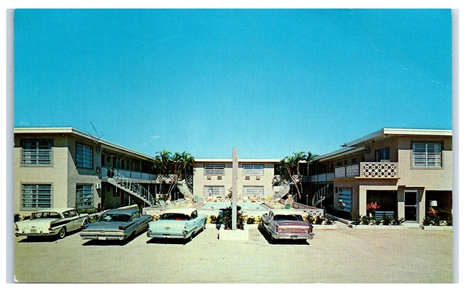 1950s The Sand Castle Motel On Gulf
