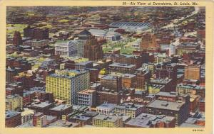 Air View of Downtown, St. Louis, Missouri, 1930-1940s