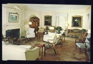 Shelburne Museum, Vermont/VT Postcard, The White Living Room
