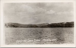 La Cloche Lake Massey Ontario ON Real Photo Postcard E68