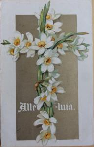 Easter Greetings: Alleluia c1907 - Pub by E. Nister No.815