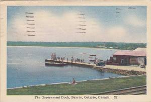 The Government Dock, Barrie,Ontario, Canada,PU-1950