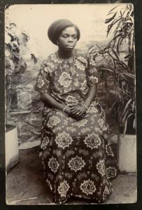 Mint French Africa Real picture Postcard RPPC Native Woman