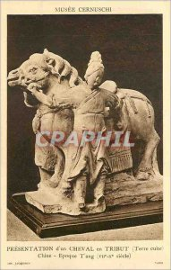 Old Postcard Presentation of a horse tribute (terracotta) Pen age tang (VII X...
