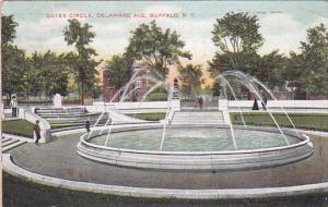 BUFFALO, New York, PU-1907; Gates Circle, Delaware Avenue