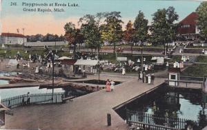 Playgrounds at Reeds Lake , GRAND RAPIDS , Michigan , PU-1914