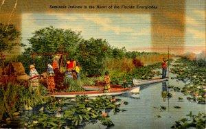 FL - Everglades. Seminole Indians   (discoloration)
