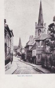 Stamford Northampton Barn Hill Antique Postcard