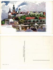 CPA AK KRAKOW Wawel Konigsschloss POLAND (288590)