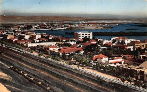 Angola Lobito Seen from The Air Panorama Postcard
