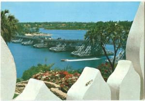 Kenya, Mombasa, Nyali Bridge, 1976 used Postcard