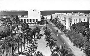 Tunisia Sfax, Avenue Habib Bourguiba Street Cars Promenade General view